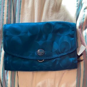 Coach hanging toiletry bag